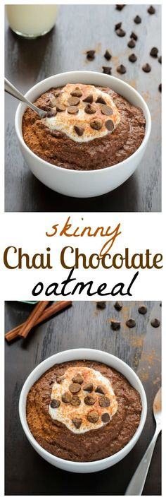 Chai Spice Chocolate Oatmeal. Decadent AND healthy. The best of both worlds!