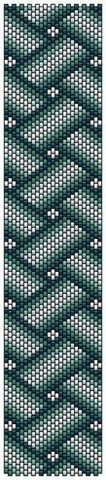 Free pattern for bracelet Twist | Beads Magic