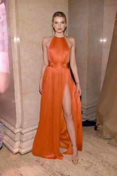 Nice 50+ Fashionable Outfit Ideas In Orange Orange Outfits, Orange Dress, Lily Donaldson, Elegant Dresses, Beautiful Dresses, Nice Dresses, Evening Dresses, Prom Dresses, Red Carpet Dresses