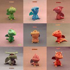 Dragones Colección 3D - BUZHANDMADE por buzhandmade en DeviantArt