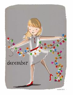 Rose Hill Designs by Heather Stillufsen Christmas Quotes, Christmas Art, Christmas And New Year, Christmas Girls, Christmas Parties, Christmas Lights, Christmas Ornaments, Hallo November, Hello December