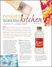 Dyeing Fabric Article 4: Using Corn Syrup for Resist Dyeing