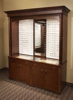 https://flic.kr/p/9Wn1wi | Epic Optical Display Cabinet | Optical display cabinet with mirror and inset optical display cases in the drawers.     Another example of quality optical display furniture from IOD Optical Displays.  www.ioddisplays.com