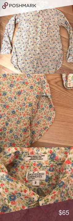 FWK Engineered Garments Floral Shirt 2 Beautiful buttondown by Engineered Garments. Size 2/S. Cotton. Made in USA. Excellent no flaws.  Japan g star supreme comme des garcons liberty flowers supreme Tops Button Down Shirts
