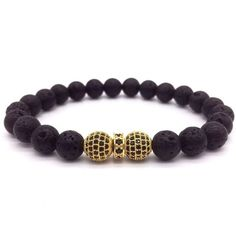 Lava Rock Beads - Nero from www.chapter94.com. Our durable elastic cord is covered in strong silicone and will permanently keep its soft elasticity. Free shipping worldwide! Perfect Gift For Him, Gifts For Him, Bracelets For Men, Beaded Bracelets, Stone Bracelet, Lava, Cord, Strong, Free Shipping