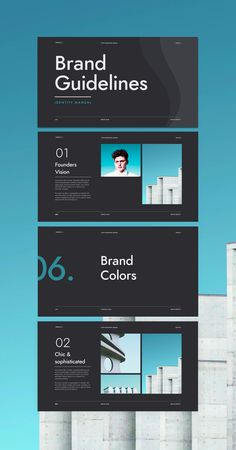Looking for a brand guidelines template to speed up your workflow?The Minimal Brand Identity Guidelines has pages for defining your next brand.Creating a detailed brand document can be an arduous process, we are here to accelerate the branding process Brand Guidelines Design, Brand Guidelines Template, Brand Identity Design, Branding Design, Corporate Branding, Identity Branding, Minimal Web Design, Web Design Color, Flat Design