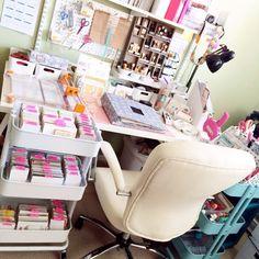'Craft Room: Hello. I'm a Paper Addict...!' (via craftstorageideas.com)