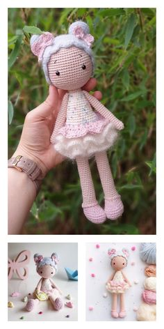 Crochet amigurumi 457537643396426563 - Amigurumi Baker Lily Doll Free Pattern – Free Amigurumi Patterns Source by Doll Amigurumi Free Pattern, Crochet Amigurumi Free Patterns, Amigurumi Doll, Knitting Dolls Free Patterns, Knitted Dolls Free, Diy Crochet Doll, Crochet Animal Amigurumi, Crochet Doll Dress, Crochet Birds