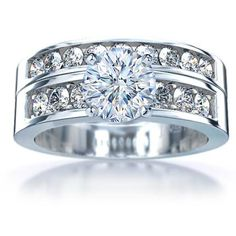 square diamond and it would be great. My dream wedding ring! Future husband, pay attention :)