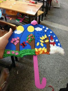 seasons preschool activities and crafts « Preschool and Homeschool Kids Crafts, Summer Crafts, Toddler Crafts, Projects For Kids, Craft Projects, Arts And Crafts, Paper Crafts, Kindergarten Art, Preschool Crafts