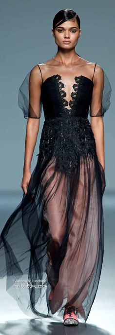 Victorio & Lucchino Spring 2014 #MBFW Madrid << I can do w/o the sleeves, but this is beautiful!
