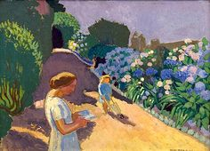 ⊰ Posing with Posies ⊱ paintings of women and flowers - Maurice Denis, 1920 / Malon et les hortensias Maurice Denis, Edouard Vuillard, Paul Gauguin, Gustav Klimt, Beaux Arts Architecture, Fields In Arts, Art Français, Georges Braque, Garden Painting