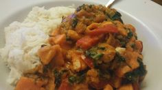 Slimming World sweet potato curry with rice