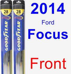 Front Wiper Blade Pack for 2014 Ford Focus - Hybrid