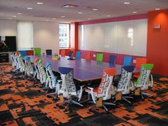 Quicken Loan Conference Room with Herman Miller Embody Chairs.