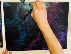 Galaxy Painting - Step By Step Acrylic Painting Tutorial Galaxy Painting Acrylic, Acrylic Painting Lessons, Acrylic Painting Tutorials, Space Painting, Painting For Kids, Painting On Wood, Kids Paint Night, Nausicaa, Bird Canvas