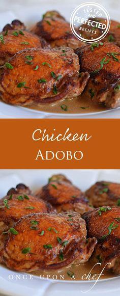 Filipino-Style Chicken Adobo #chickenrecipes