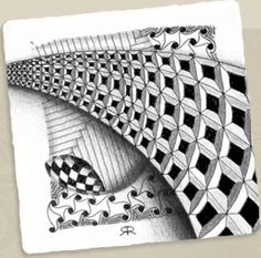 """Zentangle(c) official tangles. I now use the term """"tangle art"""" for a group of tangles because Zentangle is protected. Tangle Doodle, Tangle Art, Zen Doodle, Doodle Art, Zentangle Drawings, Doodles Zentangles, Doodle Patterns, Zentangle Patterns, Grafic Design"""