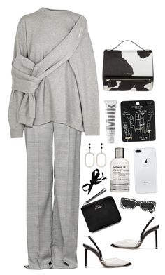 A fashion look from March 2018 featuring grey top, wide leg trousers and black high heel shoes. Browse and shop related looks. Warm Outfits, Modern Outfits, Cute Casual Outfits, Casual Chic, Stylish Outfits, Polyvore Outfits, Polyvore Fashion, Mode Dope, Circle Fashion