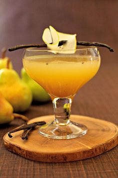 Pear Vanilla Martini is a perfect addition to a Fall party. Your guests will love the combination of pear and vanilla.