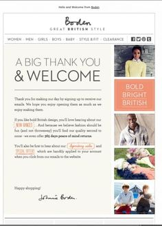 Find some inspiration here for a welcome email style that suits your goals.