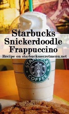 The Snickerdoodle Frappuccino is one of our favorite Starbucks Secret Menu Frappuccinos! Get one for half off with  today! for members! Starbucks Hacks, Starbucks Secret Menu Drinks, Starbucks Recipes, Starbucks Coffee, Coffee Recipes, Fondue Recipes, Shake Recipes, Copycat Recipes, Cooking Recipes