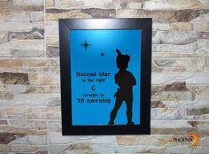 Peter Pan  Second Star to the right and straight by inPhoenixArt on Etsy  #Home #Living #Décor #Picture #Frames #Displays #Pictures #modern #art #design #unique #handmade #gift #birthday #anniversary decoration #wooden #new #trendy #idea  #flying #neverland #tinkerbell #fairytale #alligator #tick #tock #nevergrowup  #peterpan #magic  #pixies #pixiedust #young  #GiftIdeas #gifts #EtsyGifts #perfectgifts #etsyshop #shopping