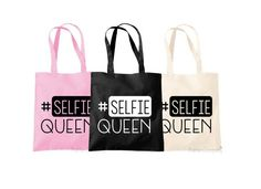 Quote Shopping Bag Selfie Queen Quote Selfie by TheHenCompany