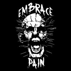 """""""Embrace Pain"""" by Baz is $10 today at ShirtPunch.com (10/01). #tshirt #Hellraiser #Pinhead #LeadCenobite #Horror #Halloween"""