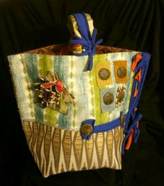Travel In Style with this Creative Handcrafted Tote by Kimberly Cannon!  One-of-a-Kind! Kimcanink@yahoo.com