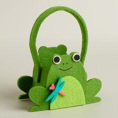 One of my favorite discoveries at WorldMarket.com: Mini Frog Felt Easter Basket