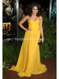 Vanessa Hudgens Yellow Strapless Prom Gown Formal Dress Journey 2 Premiere - TheCelebrityDresses
