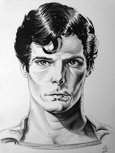 Super Man - Black grey  Markers