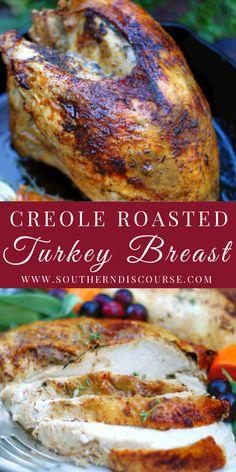 Turkey Breast In Crockpot Recipe, Roast Turkey Breast, Best Roasted Turkey, Baked Turkey, Turkey Recipes, Chicken Recipes, Turkey Seasoning, Turkey Tenderloin