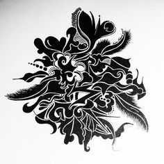 My hand drawn ink paintings I do when I want to get away from computer and maybe relax in the sun or in the sofa. Love it and it feels so good. #art #print #mjvision #fantasy #mjart #flowers #wallart #painting #etsy #mjartbymianiemi #tattoo #ink