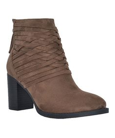 e88a2f3f013 Love this Jacobies Footwear Taupe Weave Yarns Ankle Boot by Jacobies  Footwear on