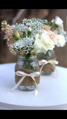 Awesome Country Wedding Centerpieces With An Elegant Country Bridal Shower Idea Board Perpetually Daydreaming On Wedding Galleries Wedding Table, Diy Wedding, Dream Wedding, Wedding Day, Trendy Wedding, Wedding Reception, Wedding Simple, Wedding Vases, Wedding Desert