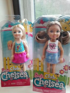 "Barbie Mattel Club Chelsea Dolls Lot of 2  Love Shirt & Ice Cream shirt  5 1/2"" #Mattel #Dolls"