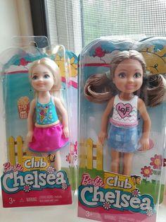 "Barbie Mattel Club Chelsea Dolls Lot of 2  Love Shirt & Ice Cream shirt  5 1/2"" #Mattel #Dolls"