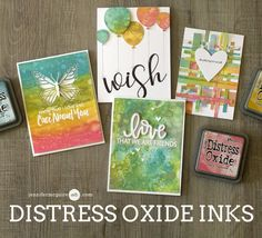 Hello! I am so excited to bring you this video. In it I share an intro to the new Distress Oxide Inks along with LOTS of card ideas! Check out the giveaway, too.  [All supplies are linked in the thumb