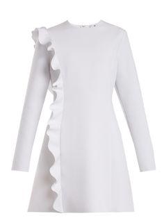 Asymmetric-ruffle crepe dress | MSGM | MATCHESFASHION.COM US