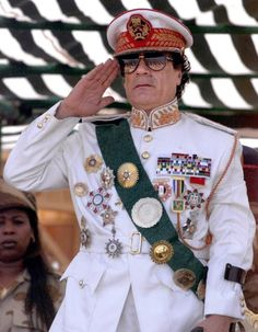 Muammar Gaddafi, Libya. Wretched man who destroyed so much, so quickly.