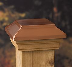 Light up your deck, porch or mailbox with our Solar Copper High Point Post Cap. It features a durable plastic top and plastic lens and coordinates well with the Copper High Point Post Cap. Solar Deck Lights, Deck Lighting, Solar Post Lights, Driveway Lighting, Post Sleeve, Fence Post Caps, Cedar Posts, Deck Posts, Wood Post
