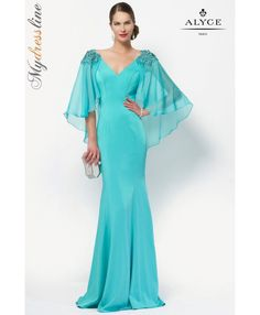 31d4690daea Alyce 27170 beautiful and classy chiffon gown with a v neckline