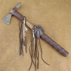 decorative native american style buckskin warrior tomahawk - Native American Decor