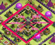MEGACube Layout - Maximum DE Protection for TH8   Clash of Clans Land Archer Queen, Clan Castle, Barbarian King, Off The Map, Clash Of Clans, Are You The One, Balloons, Layout, Stuff Stuff