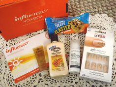 Influenster Caliente VoxBox 2014. Dove Pure Care Dry Oil, Sheer Touch Ultra Radiance SPF Lotion by Hawaiian Tropic, Kiss Gel Fantasy Ready to Wear Nails, Rice Krispies Treat in Blasted, and a Paula's Choice Skin Perfecting 2% BHA Liquid Salicydic Acid. #Influenster #CalienteVoxBox What a amazing way to end the Summer. Thanks in part of the Influenster Team.