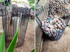 Add height and interest to your garden with this easy and affordable gabion planter tutorial. Garden Yard Ideas, Garden Crafts, Garden Projects, Garden Art, Diy Projects, Rock Planters, Diy Planters, Gabion Cages, Gabion Baskets