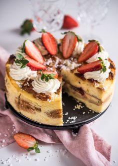 Laskiaispulla-juustokakku – Perinneruokaa prkl   Meillä kotona Cheesecakes, Sweets, Baking, Desserts, Tailgate Desserts, Recipes, Deserts, Gummi Candy, Bakken
