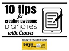10 tips for creating awesome diginotes with Canva - Ditch That Textbook Online Graphic Design, Graphic Design Tools, Tool Design, Sketch Notes, Blended Learning, Social Media Site, School Lessons, Creative Teaching, Marketing Tools